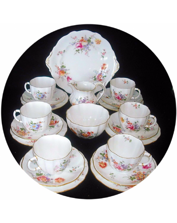 (OUT OF STOCK) ROYAL CROWN DERBY POSIES TEA SET FO...